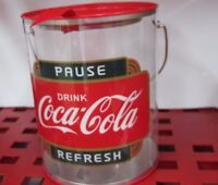 Coca-Cola Clear Paint Can w/Handle  - NEW