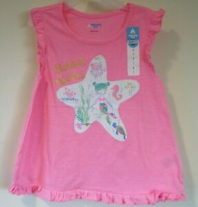 Brand New Lightning Bug Pink Starfish Wishes Top Girl's Size 2T
