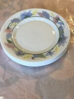 "Vintage Arcopal France Salad Plate 7 7/8""D White Floral Design Set Of 5"