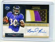 2014 PANINI PROMINENCE FOOTBALL 4 COLOR PATCH AUTOGRAPH BERNARD PIERCE 14/15 SP!