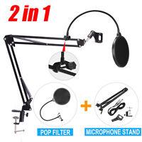 Mic Desktop Microphone Suspension Stand Studio Broadcast Boom Scissor Arm Hold.A