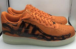Nike Air Force 1 07 Skeleton Brilliant Orange Halloween Lifestyle CU8067-800