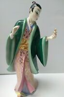 Giovanni Ronzan Italian Porcelain Signed Statue Figurine of Asian Man 1940's