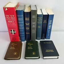 Lot of 10 Bibles,King James,New Testament,Book Of Mormon,Holy,New Oxford,Science