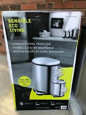 Sensible Eco Living 2 Pack Hands Free Stainless Steel Trash Cans 5.5L + 35L