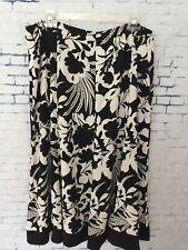 Judith Hart Womens Sz 16 Black White Lined Skirt Zipper