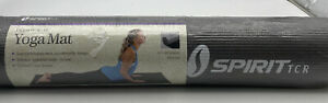 """Spirit Tcr Yoga Mat Gray Lightweight 24""""x69"""" Two sided silver and ash eco-friend"""