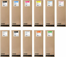 11 x ORIGINALI INCHIOSTRO EPSON Stylus Pro 7900 9900 DA 700ML T6361 -t6369