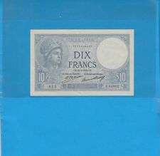 10 Francs MINERVE  du 24-3-1932 Alphabet E.63802 Billet N° 1595029425