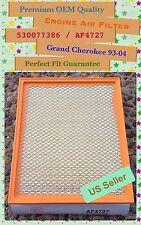 Grand Cherokee QX56 Frontier V6 Titan Premium Quality Engine Air Filter AF4727