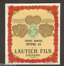 10 ETIQUETTES PARFUM :EAU DE COLOGNE RAMSES de LAUTIER FILS GRASSE
