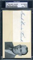 FRANK BRUISER KINARD VINTAGE SIGNED PSA/DNA 3X5 INDEX CARD CUT AUTOGRAPH