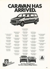 1984 Dodge Caravan Van - Original Car Advertisement Print Ad J166