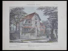 MAISONS-LAFFITTE, VILLA AV. ALEXANDRE TROIS 1912 PLANCHES ARCHITECTURE TAVERNIER