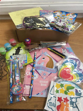 UNICORN and RAINBOW Children Craft Box (Scratch Art, Foam, Stickers, Beads etc)