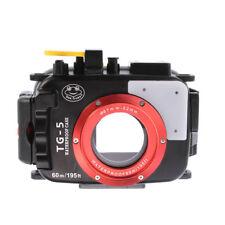 60m 195ft Camera Waterproof Case Underwater Housing Bag For Olympus TG5 Black