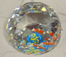 "Swarovski Crystal Arribas 2"" Paperweight Mickey the Sorcerer.25 Years-M5419"