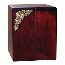 Wood Cremation Urn (Wooden Urns) - Rosewood Roses Companion