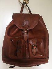 Vintage Italian Tan Leather Rucksack
