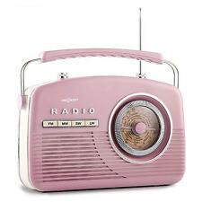 50's VINTAGE RADIO RETRO PINK PORTABLE FM STEREO 4 BAND HOME AUDIO SYSTEM HIFI