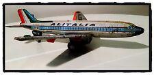 Gioco Latta Vintage Aereo ALITALIA DC-8 Batterie ANNI '60 Made in Japan