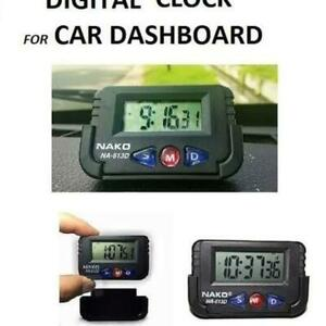 Car Dashboard Desk Alarm Clock and Digital Stopwatch with Flexible Stand UK