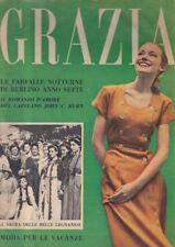 GRAZIA moda fashion 1952 n.590 FARFALLE NOTTURNE DI BERLINO ANNO SETTE Burn roma
