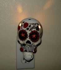Sugar Skull Wax Warmer And Night Lite Sugar Skulls Day of the Dead Folk Art