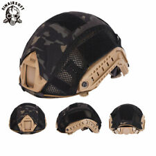 Tactical Helmet Cover w/mesh for FAST Helmet Camo Hunting Airsoft Headwear MCBK