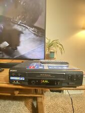 SONY SLV-N51 4 HEAD HI-FI STEREO VCR VHS PLAYER RECORDER W/ CABLES & REMOTE