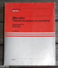 Livre  * MERCATOR THÉORIE & PRATIQUE DU MARKETING * de LENDREVIE, LINDON, LAUFER