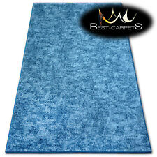 """Hardwearing Soft carpets """"POZZOLANA"""" blue thick wall-to-wall Rug Best-carpets"""