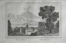 ITALIA:NAPOLI PANORAMA CON VESUVIO, MASCHIO ANGIOINO.LEMAITRE.ITALIA.Artaud.1835