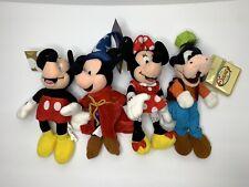 Mint Disney Store Mini Bean Bag Plush Sorcerer Mickey Minnie Goofy
