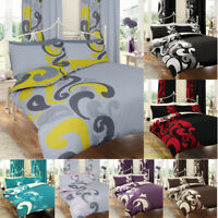 Printed Duvet Cover Set Single Double Super king Size PolyCotton Luxury Bedding