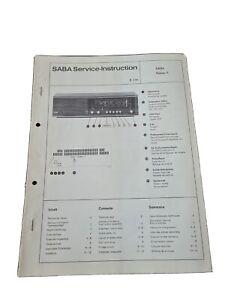 Original Service Manual Schaltplan Saba Donau F