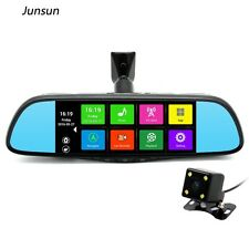 "junsun 7"" GPS Navigation Mirror Bluetooth Touch Special Android for any Car"