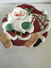 Fritz And Floyd Santa Plate Christmas Cookie Holiday Winter