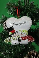 Personalized Christmas Tree Decoration Ornament Snowman Couple Engaged