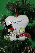 Personalised Christmas/Xmas Tree Decoration Ornament Snowman Couple Engaged