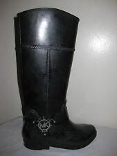 MICHAEL  KORS Black Rain Boots Shoes Women's Size 6
