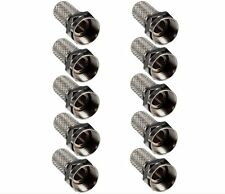 10 x F type RG6 Twist On Coax Coaxial Cable Connector Plug Adapter Satellite TV