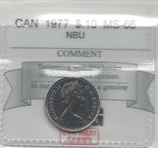 **1977**, Coin Mart  Graded Canadian,  10  Cent, **MS-66 NBU**.