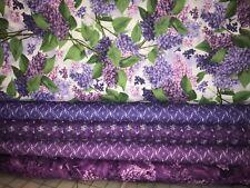 New listing 5 Yards Quilt Fabric Kit - Rjr Heirloom Lilac set