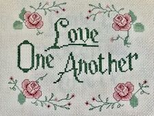 Completed Finished Cross Stitch,Love One Another