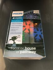 """Philips Motion Projector Indoor/Outdoor """"Snowflakes� Red/Blue/Green"""