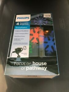 """Philips Motion Projector Indoor/Outdoor """"Snowflakes"""" Red/Blue/Green"""