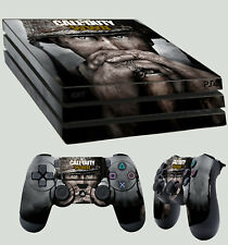 PS4 PRO aderente CALL OF DUTY WORLD WAR 2 WWII ADESIVO + 2 x TAPPETINO VINYL LAY