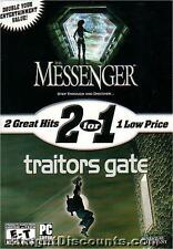 THE MESSENGER & TRAITORS GATE  2 for 1 PC Games NEW BOX