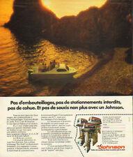 Publicité 1975  JOHNSON moteur de bateau ...